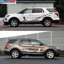 Sport Mountain Climbing Vinyl Decal Car Door Side Sticker Auto Body Customized Decals For Ford Edge Explorer Accessories Car Stickers Aliexpress