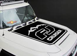 Product Toyota Fj Cruiser 1x Hood Stripe Graphics Vinyl Hood Decal Sticker High Quality