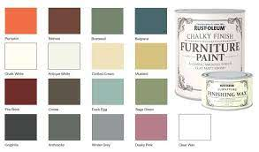 rust oleum chalk chalky colour chart