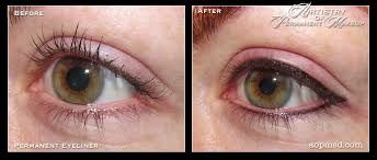 permanent eyeliner makeup before and