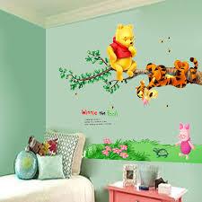 Home Garden Wall Vinyl Decal Nursery Baby Shower Gift Pooh Theme Decor Art Winnie The Pooh Decor Decals Stickers Vinyl Art