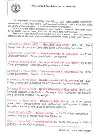 Appuntamenti dell'itinerario quaresimale 2020 per cresimandi e ...