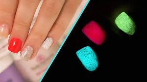 glow in the dark acrylic nails