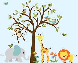 Jungle Animal Wall Decal Safari Animal Wall Decal Boy Room Etsy