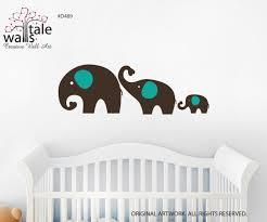 Elephant Family Wall Decal For Jungle Nursery