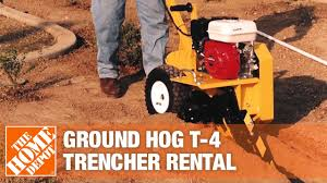 Ground Hog 18 In Trencher The Home Depot Rental Youtube
