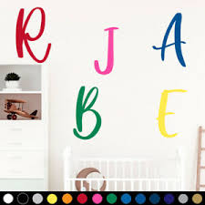 Custom Personalized Name Monogram Letter Wall Decal Baby Girl Boy Nursery Room G Ebay