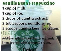 vanilla bean frap recipe