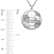 21 0 mm soccer ball with name pendant