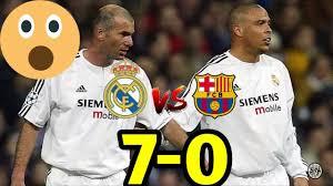ريال مدريد برشلونة 7 0 فوز كاسح لريال مدريد المبارة التي لم