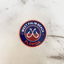 West Palm Beach Florida Fish Hooks Vinyl Sticker Prep Obsessed