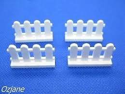 Lego Brick White Fence 1 X 4 X 2 Paled Picket Part 33303