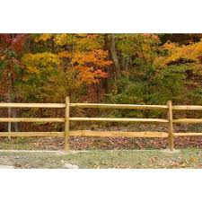 Unbranded 3 In X 6 In X 7 Ft Pressure Treated Pine 3 Hole Split Rail Line Post Wvsr3111 The Home Depot
