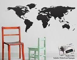 Home Decor Vinyl Wall Art World Map Of Earth Wall Decal 9145324458814 Ebay