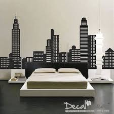 City Skyline Decal City Buildings Skyline Vinyl Wall Decal Sticker On Etsy 131 00 Boys Wall Decals Vinyl Wall Decals Home