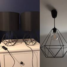bedside lamps with satin black shades