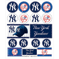 New York Yankees Stickers 1 Sheet Party City