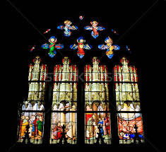 stained glass window of saint etienne