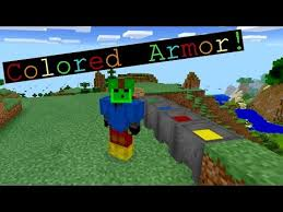 minecraft pe how to change your armor