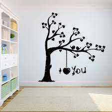 Tree Wall Decal Sticker Bedroom Tree Of Life Roots Birds Flying Away Home I Love You The Tree Wall Sticker A7 016 Wall Stickers Aliexpress