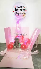 customize surprise balloon gift box