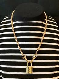 louis vuitton lock necklace with box