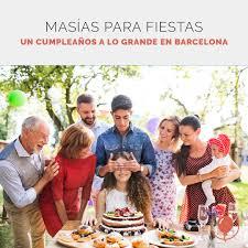 Las Mejores Masias Para Cumpleanos En Barcelona Venuesplace