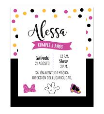 Invitacion Cumpleanos Minnie Confenti Disenos Personalizados