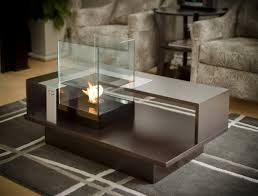 delightful indoor fire pit coffee table