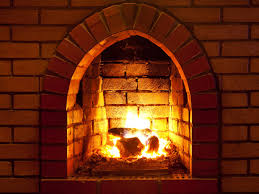 hearth cleaning the brick fireplace