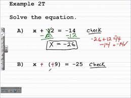 solve one step equations algebra 1