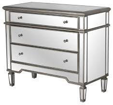 3 drawer mirrored chest cary