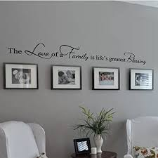 Amazon Com Digtour Wallart Family Decoration Wall Decal Couple Wall Stickers Living Room Wall Quotes The Love Of A Family Is Life S Greatest Blessing X Large Black Home Kitchen