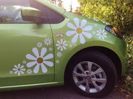 Crazy Daisy Flower Car Stickers Hippy Motors Car Stickers Vinyl Decals Transfers Girly Car Decals Car Decal Hippie Flower Car
