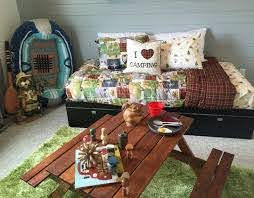 Remodelaholic Get This Look Outdoors Camping Theme Kids Bedroom