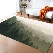 Amazon Com Large Area Rugs 3 X 5 Throw Carpet Floor Cover Nursery Rugs For Children Kids Northern World With Coniferous Trees Scandinavian Woodland Modern Kitchen Mat Runner Rugs For Living Room Bedroom Home