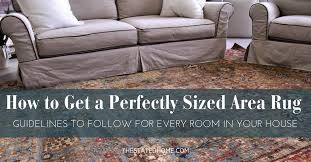 area rug rules ing the right size
