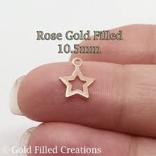 10pcs rose gold filled star charms