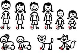 Set Of 8 Stick Figure Family Car Decal Car Family Stickers Etsy