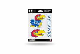 Ku Jayhawks Window Decal Sticker Set Officially Licensed Custom Sticker Shop