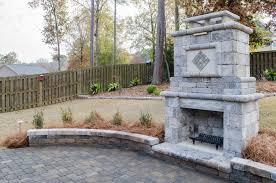 eye catching outdoor fireplace