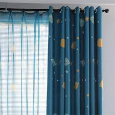 Cartoon Outer Space Blackout Curtains For Kids Room Curtains For Children Bedroom Living Room Window Curtain For Child Wp355 4 Curtains Aliexpress