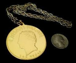 caesars palace las vegas coin gold tone