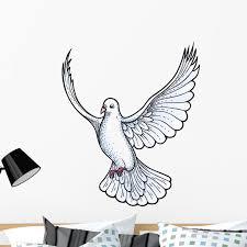 White Dove Wall Decal By Wallmonkeys Peel And Stick Graphic 36 In H X 30 In W Wm133011 Walmart Com Walmart Com