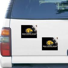 Southern Miss Golden Eagles 5 X 6 Rectangular 2 Pack Car Magnet Set