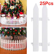 1 Set Of 25 Pieces Tinksky White Plastic Picket Fence Miniature Home Garden Christmas Xmas Tree Wedding Party Decoration Wish