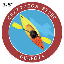 Chattooga River Georgia Kayak 3 5 Car Truck Window Bumper Sticker Decal Ebay