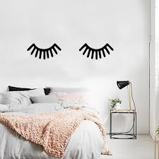Large Children Baby Room Sleeping Eye Eyelash Vinyl Wall Art Decal 1 Imprinted Designs