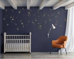 Sparkly Starburst Vinyl Wall Decals Mid Century Modern 1950s Star Wall Decals Gold Star Wall Decals Vinyl Wall Decals
