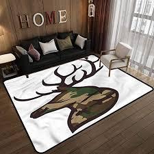 Amazon Com Antler Kids Room Baby Nursery Carpet Mat Home Decor Stag Deer Portrait Nature 3 X 5 Feet Kitchen Dining